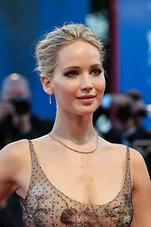 """Jennifer Lawrence arriving to the premiere of """"Mother"""" as part of the 74th Venice International Film Festival (Mostra) in Venice, Italy on September 5, 2017. Photo by Marco Piovanotto/ABACAPRESS.COM"""