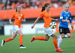 20-05-2015 NED: Nederland - Estland vrouwen, Rotterdam<br /> Oefeninterland Nederlands vrouwenelftal tegen Estland. Dit is een 'uitzwaaiwedstrijd'; het is de laatste wedstrijd die de Nederlandse vrouwen spelen in Nederland, voorafgaand aan het WK damesvoetbal 2015 / Vanity Lewerissa #7