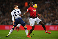 Football - 2018 / 2019 Premier League - Tottenham Hotspur vs. Manchester United<br /> <br /> Manchester United's Paul Pogba battles for possession with Tottenham Hotspur's Christian Eriksen, at Wembley Stadium.<br /> <br /> COLORSPORT/ASHLEY WESTERN