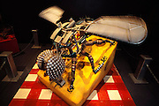 An animated robot fly with 10 foot wingspan is part of an exhibit called the Robot Zoo.