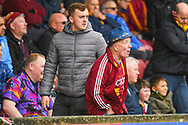 Bradford City fans during the EFL Sky Bet League 1 match between Scunthorpe United and Bradford City at Glanford Park, Scunthorpe, England on 27 April 2019.