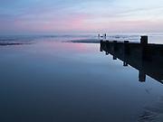 Bexhill beach at dusk 27 December 2016