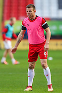Doncaster Rovers defender Andrew Butler (6) warms up prior to the The FA Cup 2nd round match between Charlton Athletic and Doncaster Rovers at The Valley, London, England on 1 December 2018. Photo by Toyin Oshodi
