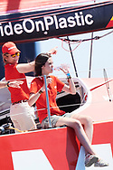 Princess Elena, Victoria Federica de Marichalar on board of Mapfre during the 37th Copa Del Rey Mapfre Sailing Cup on August 1, 2018 in Palma, Spain