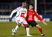 Fotball<br /> Frankrike<br /> Foto: DPPI/Digitalsport<br /> NORWAY ONLY<br /> <br /> FOOTBALL - FRENCH CUP 2008/2009 - 1/8 FINAL - US BOULOGNE v TOULOUSE FC - 03/03/2009 - PAULO CESAR (TOU) / JONAS BRIGNONI (BOU)