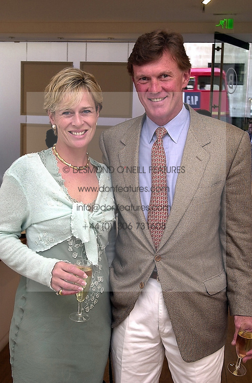 MR BROOK JOHNSON the american multi millionaire<br />  polo patron and MRS SALLY FABER at a reception in <br /> London on 30th May 2000.OEP 8<br /> © Desmond O'Neill Features:- 020 8971 9600<br />    10 Victoria Mews, London.  SW18 3PY <br /> www.donfeatures.com   photos@donfeatures.com<br /> MINIMUM REPRODUCTION FEE AS AGREED.<br /> PHOTOGRAPH BY DOMINIC O'NEILL