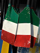 Plovdiv BULGARIA. Oars/Blades with National colours and design. ITA. Italy.  2011 FISA European Rowing Championships, Plovdiv Rowing Centre   Saturday  17/09/2011  [Mandatory Credit; Peter Spurrier: Intersport Images]  Original Camera File No.  2011011874.jpg Equipment.