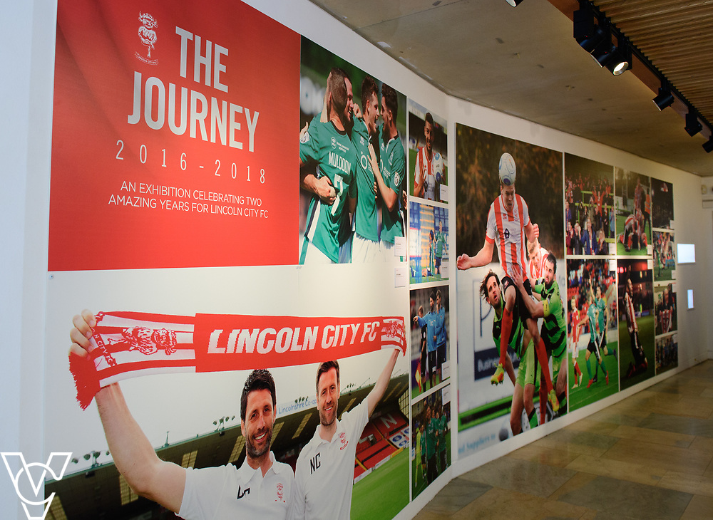 A special exhibition has launched at The Collection museum, in Lincoln. 'The Journey - a Celebration of Lincoln City FC 2016-18' celebrates two historic seasons for the Imps.<br /> <br /> Picture: Chris Vaughan Photography<br /> Date: June 22, 2108