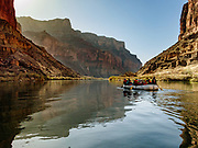 Rafting through Marble Canyon, on Day 4 of 16 days boating 226 miles down the Colorado River in Grand Canyon National Park, Arizona, USA.