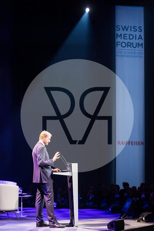 SCHWEIZ - LUZERN - SwissMediaForum 2018 im KKL, hier die spricht Ulrich Wilhelm, Vorsitzender ARD - 27. September 2018 © Raphael Hünerfauth - http://huenerfauth.ch