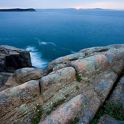 Dawn from Otter Cliffs in Acadia National Park Maine USA