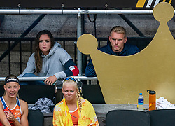 Katja Stam, Raïsa Schoon, Mexime van Driel during the first day of the beach volleyball event King of the Court at Jaarbeursplein on September 9, 2020 in Utrecht.