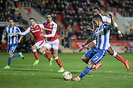 Brighton & Hove Albion central midfielder Beram Kayal (7) takes a shot but it is saved during the EFL Sky Bet Championship match between Rotherham United and Brighton and Hove Albion at the AESSEAL New York Stadium, Rotherham, England on 7 March 2017. Photo by Mark P Doherty.
