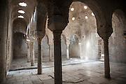 Banos Arabes, historic Arabic Baths, eleventh century Moorish public baths, Carrera del Darro, Granada, Spain