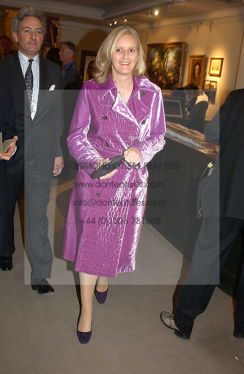 MRS NICHOLAS WILLIAMS, she was Alexandra Heseltine at auctioneers Sotheby's Summer party held at their showrooms in 34-35 New Bond Street, London W1 on 6th June 2005.<br />