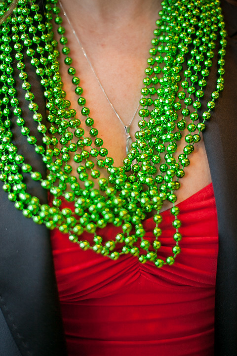 """Marie Jeno displays her """"Head & Tails"""" beads at the KNBA Auction at the Dena'ina, Anchorage"""