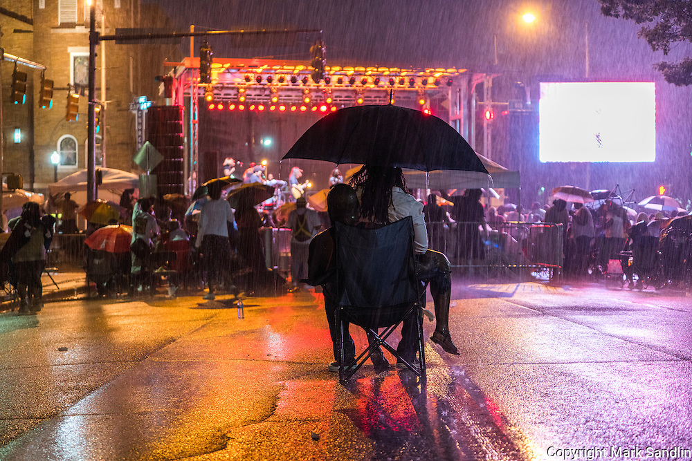 Rain thinned the audience at the Ledisi concert following the March for Birmingham