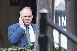 © Licensed to London News Pictures. 02/10/2019. London, UK. MP for Kingston and Surbiton Ed Davey talks on the phone in Parliament. Photo credit: George Cracknell Wright/LNP