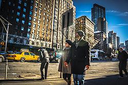 Upper West Side of New York City street scene
