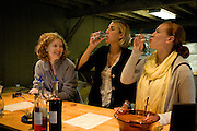 Tasting spirits and wines at Sweetgrass Winery, Union, Maine.