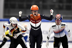 February 9, 2019 - Torino, Italia - Foto LaPresse/Nicolò Campo .9/02/2019 Torino (Italia) .Sport.ISU World Cup Short Track Torino - Ladies 1500 meters Final A .Nella foto: Suzanne Schulting esulta dopo la vittoria..Photo LaPresse/Nicolò Campo .February 9, 2019 Turin (Italy) .Sport.ISU World Cup Short Track Turin - Ladies 1500 meters Final A.In the picture: Suzanne Schulting celebrates after winning (Credit Image: © Nicolò Campo/Lapresse via ZUMA Press)