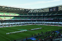 Rugby Union - 2020 Autumn Nations Cup - Final - England vs France - Twickenham<br /> <br /> Players observe a minute's applause for Christophe Dominici.<br /> <br /> COLORSPORT/ASHLEY WESTERN