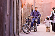 old man on moped in marrakech. morocco. Morocco travel photography