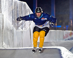 03-02-2012 SKATING: RED BULL CRASHED ICE WORLD CHAMPIONSHIP: VALKENBURG<br /> Andreas Kristof SWE during a training session<br /> ©2012-FotoHoogendoorn.nl/Peter Schalk