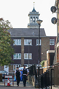 Police continue their investigation on Tuesday, Sept 15, 2020 - after man has died of stab wounds in Islington, North London on Monday. Police have launched an investigation after they attended North Road N7 around 8 pm and found a male, thought to be a teen, with stab wounds. (VXP Photo/ Vudi Xhymshiti)