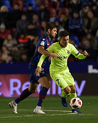 January 10, 2019 - Valencia, Valencia, Spain - Pricic of Levante UD and Philippe Coutinho of FC Barcelona during the Spanish Copa del Rey match between Levante and Barcelona at Ciutat de Valencia Stadium on Jenuary 10, 2019 in Valencia, Spain. (Credit Image: © AFP7 via ZUMA Wire)