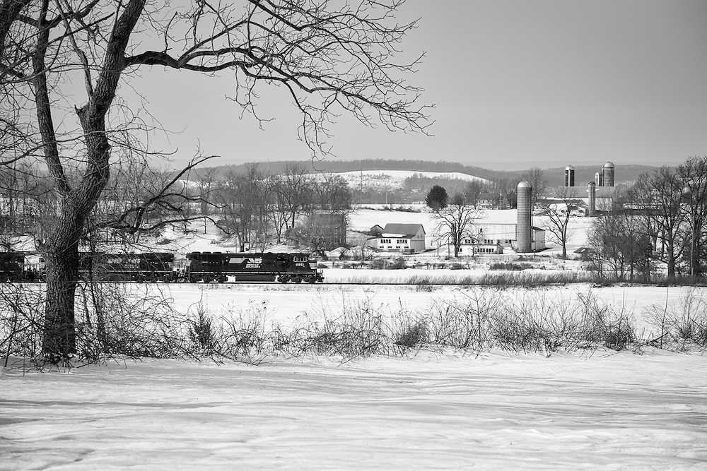 The quiet small farming community of Bowers, PA has witnessed many trains passing through since rails were laid here back in 1860 by the Reading Railroad.