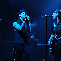 MINNEAPOLIS, MN - MARCH 16: Joel and Benji Madden of Good Charlotte perform while on their Cardiology Tour at First Avenue on Wednesday, March 16, 2011 in Minneapolis, Minnesota.  (Photo by Adam Bettcher/Getty Images) *** Local Caption *** Joel Madden, Benji Madden