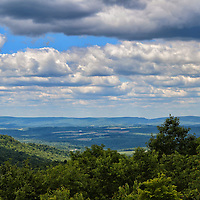 """""""Scenic Laurel Highlands""""<br /> <br /> More beauty of the scenic Laurel Highlands of PA.! Gorgeous vistas from atop a mountain looking out into layers of puffy clouds, down into the valley below, and across to other mountains. Beautiful shadows and light dance across the landscape from the clouds and sunlight above!!<br /> <br /> Laurel Highlands Area of Pennsylvania by Rachel Cohen"""