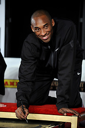 Kobe Bryant Dies In Helicopter Crash ---- Los Angeles Lakers shooting guard Kobe Bryant attends his hand and footprint ceremony at the Grauman's Chinese Theater in Hollywood, CA, USA on February 19, 2011. Bryant become the first athlete to have his hands and feet imprinted at the legendary Graumans Chinese Theater. He joins over 200 stars including Marilyn Monroe, Brad Pitt, Arnold Schwarzenegger, Will Smith, Harrison Ford or John Wayne who have had their hand and footprint ceremonies. Photo by Lionel Hahn/Abaca USA/ABACAPRESS.COM