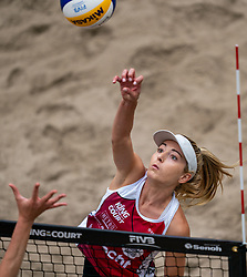 Megan McNamara CAN in action during the last day of the beach volleyball event King of the Court at Jaarbeursplein on September 12, 2020 in Utrecht.