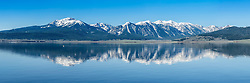 Centennial Range reflection panorama in Henrys Lake in eastern Idaho. <br /> <br /> This is a 500 megabyte file that can be printed as large as 12-foot long by 4-foot tall at 160dpi
