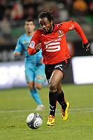 FOOTBALL - FRENCH CHAMPIONSHIP 2009/2010 - L1 - STADE RENNAIS v RC LENS - 16/01/2010 - PHOTO PASCAL ALLEE / DPPI - JIRES KEMBO EKOKO (RENNES)