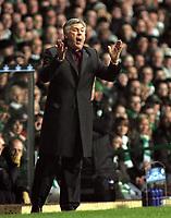 Photo: Paul Thomas.<br /> Glasgow Celtic v AC Milan. UEFA Champions League. Last 16, 1st Leg. 20/02/2007.<br /> <br /> Carlo Ancelotti, manager of Milano.