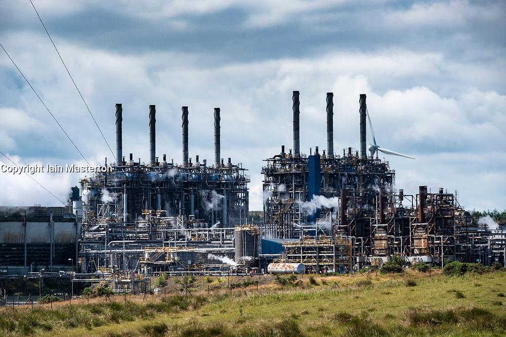 Mossmorran petrochemical plant in Fife, Scotland, UK