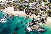 Aerial over Table Rock Beach in Laguna Beach California