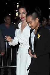 September 15, 2017 - New York, NY, USA - September 14, 2017 New York City..Angelina Jolie and Maddox Jolie-Pitt seen on September 14, 2017 in New York City. (Credit Image: © Kristin Callahan/Ace Pictures via ZUMA Press)