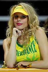 Cheerleaders Klaipeda University Dance Team (Zalgdance)  during basketball match between National teams of Russia and Ukraine in Group D of Preliminary Round of Eurobasket Lithuania 2011, on August 31, 2011, in Arena Svyturio, Klaipeda, Lithuania. (Photo by Vid Ponikvar / Sportida)