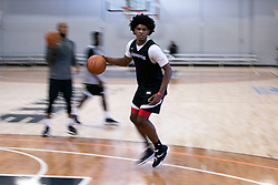 G League Ignite's Scoot Henderson works on his ball handling during a workout with the team on Tuesday, Sept. 28, 2021 in Walnut Creek, Calif.