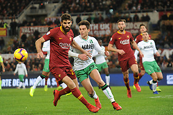 December 26, 2018 - Rome, Italy - Federico Fazio of AS Roma in action during the Italian Serie A football match between A.S. Roma and Sassuolo at the Olympic Stadium in Rome, on december 26, 2018. (Credit Image: © Federica Roselli/NurPhoto via ZUMA Press)