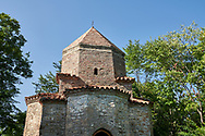 Pictures & images of a tetraconch cupola church from the first quarter of the seventh century. Dzveli (Old) Shuamta Monastery  founded by one of the 13 Syrian Fathers in the sixth century, Kakheti , Georgia (country). .<br /> <br /> Visit our MEDIEVAL PHOTO COLLECTIONS for more   photos  to download or buy as prints https://funkystock.photoshelter.com/gallery-collection/Medieval-Middle-Ages-Historic-Places-Arcaeological-Sites-Pictures-Images-of/C0000B5ZA54_WD0s<br /> <br /> Visit our REPUBLIC of GEORGIA HISTORIC PLACES PHOTO COLLECTIONS for more photos to browse, download or buy as wall art prints https://funkystock.photoshelter.com/gallery-collection/Pictures-Images-of-Georgia-Country-Historic-Landmark-Places-Museum-Antiquities/C0000c1oD9eVkh9c