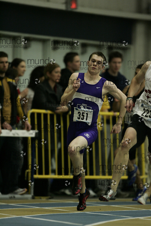 (Windsor, Ontario---13 March 2010) Scott Leitch of University of Western Ontario Mustangs  competes in the mens 600 meters at the 2010 Canadian Interuniversity Sport Track and Field Championships at the St. Denis Center. Photograph copyright GEOFF ROBINS/Mundo Sport Images. www.mundosportimages.com