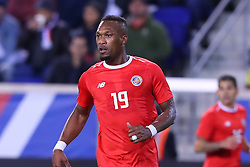 October 16, 2018 - Harrison, NJ, U.S. - HARRISON, NJ - OCTOBER 16:  Costa Rica defender Kendall Waston (19) during the  second half of the International Friendly Soccer Game between Colombia and Costa Rica on October 16, 2018 at Red Bull Arena in Harrison, NJ.  (Photo by Rich Graessle/Icon Sportswire) (Credit Image: © Rich Graessle/Icon SMI via ZUMA Press)