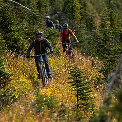 Mountain biking on Mt Cartier in Revelstoke BC