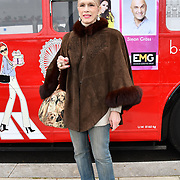 Lady Colin Campbell attend Celeb Bri Tea, on board the BB Bakery bus on 22 March 2019, London, UK.