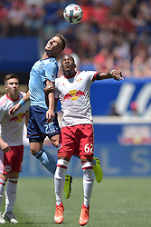 June 24, 2017 - Harrison, New Jersey, U.S - New York Red Bulls defender MICHAEL MURILLO (62) and New York City FC defender BEN SWEAT (2) in action at Red Bull Arena in Harrison New Jersey New York City FC defeats New York Red Bulls 2 to 0 (Credit Image: © Brooks Von Arx via ZUMA Wire)